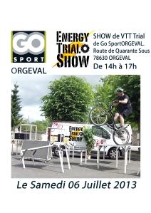 Energy Trial Show en démo pour Go Sport